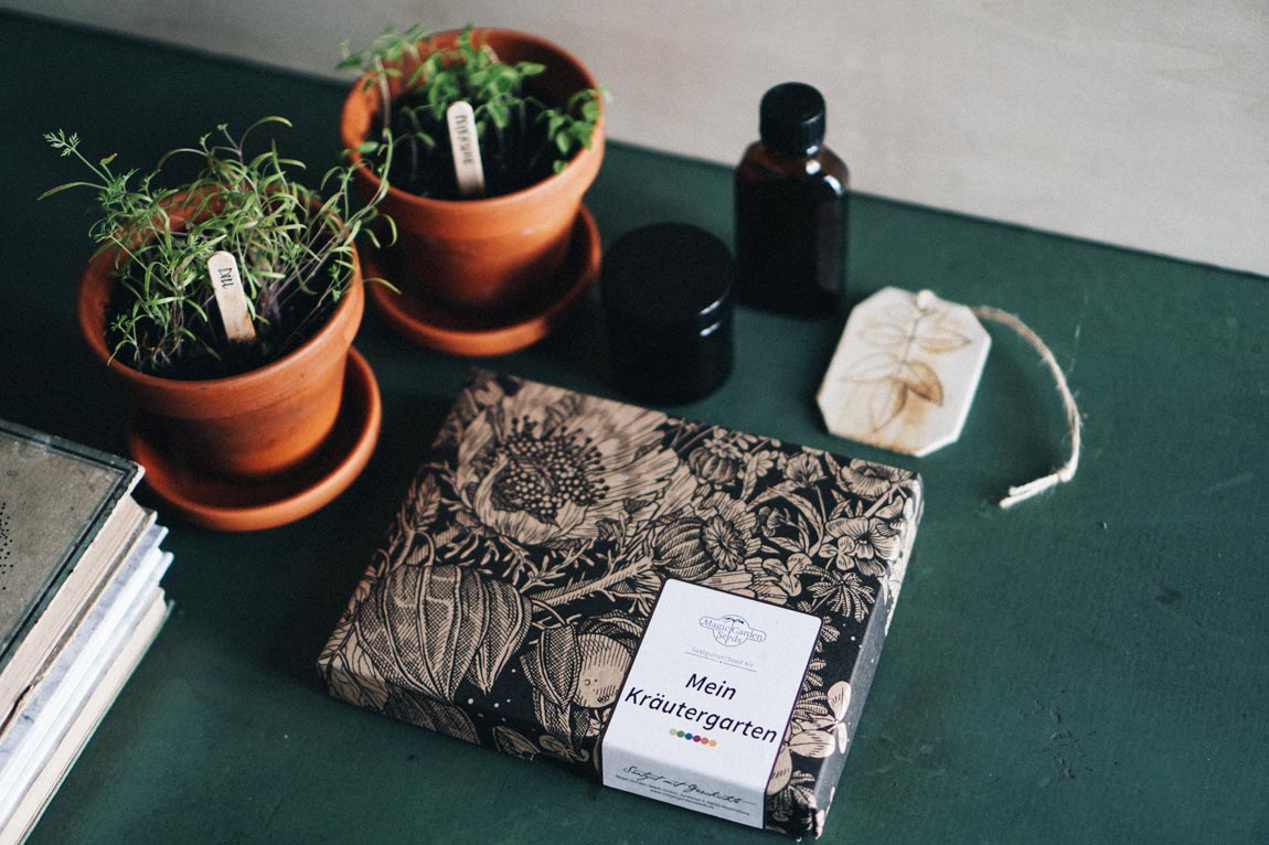 Samen und Saatgut Set um Kräuter selber anbauen