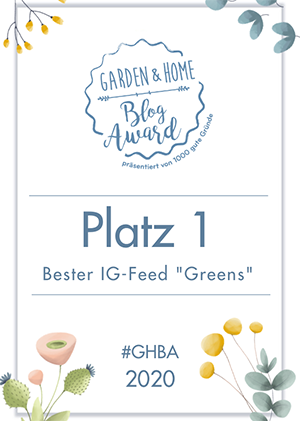 Garden Home Blog Award Instagram 1. Platz