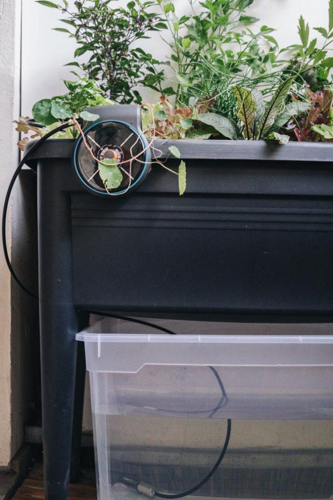 Wasserspeicher für automatische Balkonbewässerung