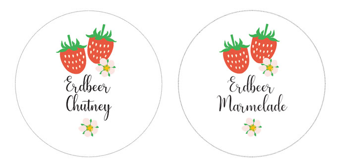 Erdbeer Chutney Etiketten
