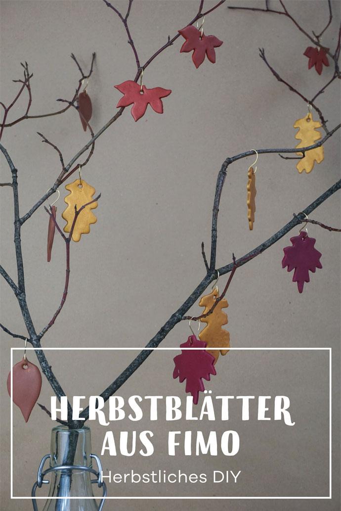 DIY | Bunte Herbstblätter aus Fimo basteln.