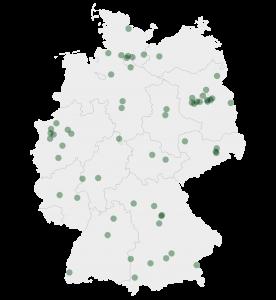 Übersicht der Gärtnereien in Deutschland