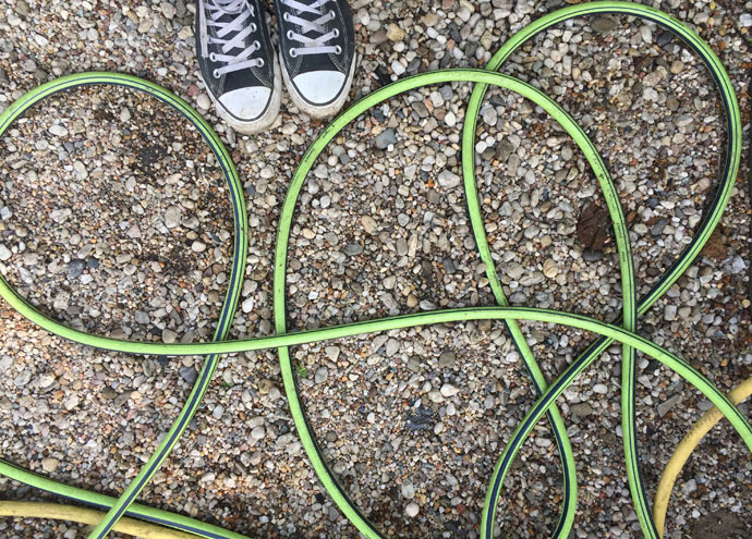 Bewässerung im Schrebergarten