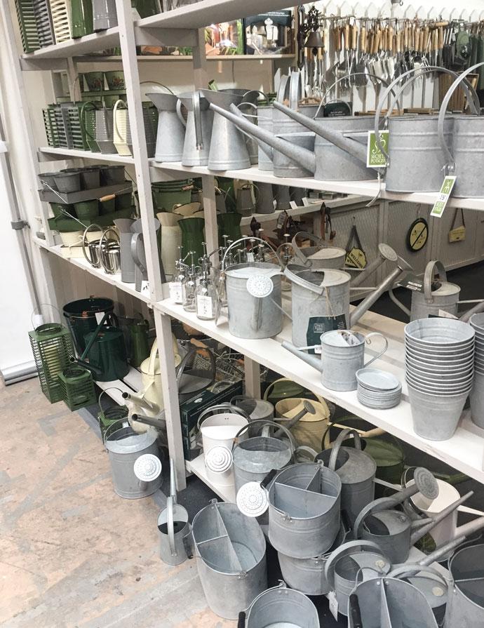 Zink Gießkanne Vintage auf der Gartenträume Berlin kaufen
