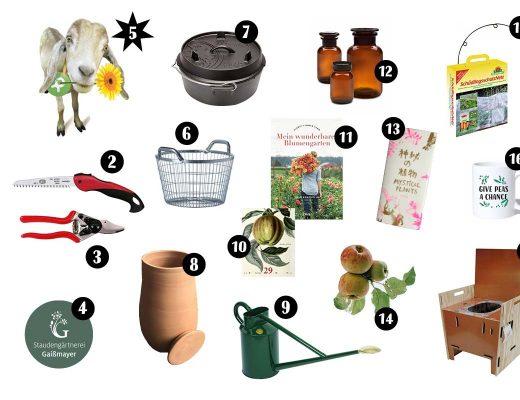 Nachhaltige und nützliche Geschenke und Geschenkideen für Gartenfreunde