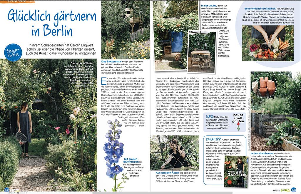 Bloggerportrait über den Hauptstadtgarten Schrebergarten-Blog in der Gartenspaß.